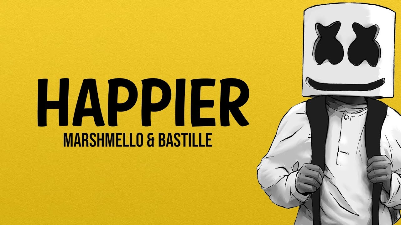 Happier by Marshmello & Bastille single cover art.